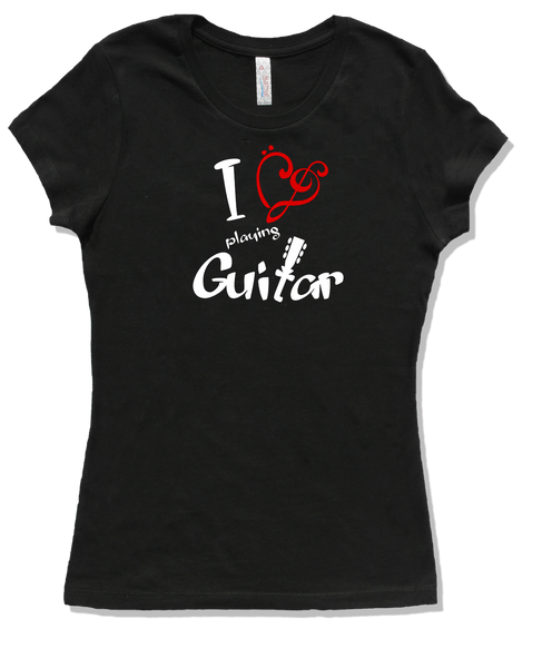 I Love Acoustic Guitar, Womens - TntMusicBox - 3
