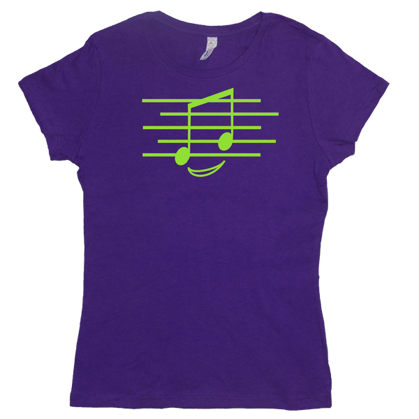 Eighth Note Smiley, Womens