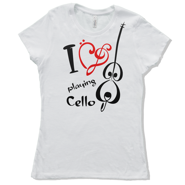I Love Cello, Womens - TntMusicBox - 5