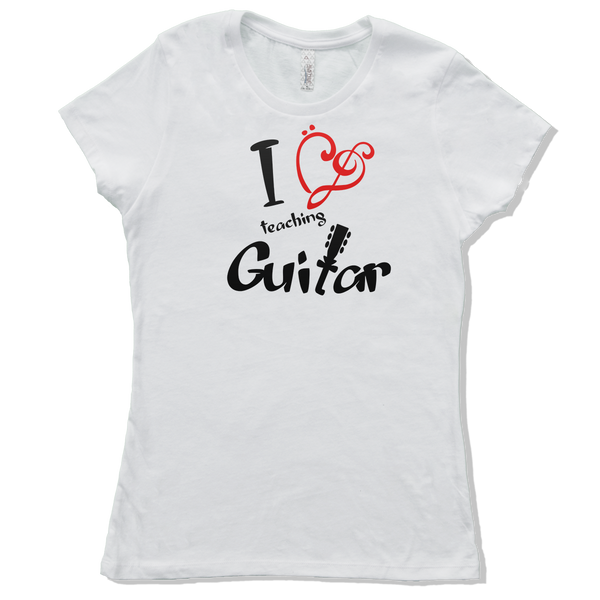 I Love Acoustic Guitar, Womens - TntMusicBox - 4