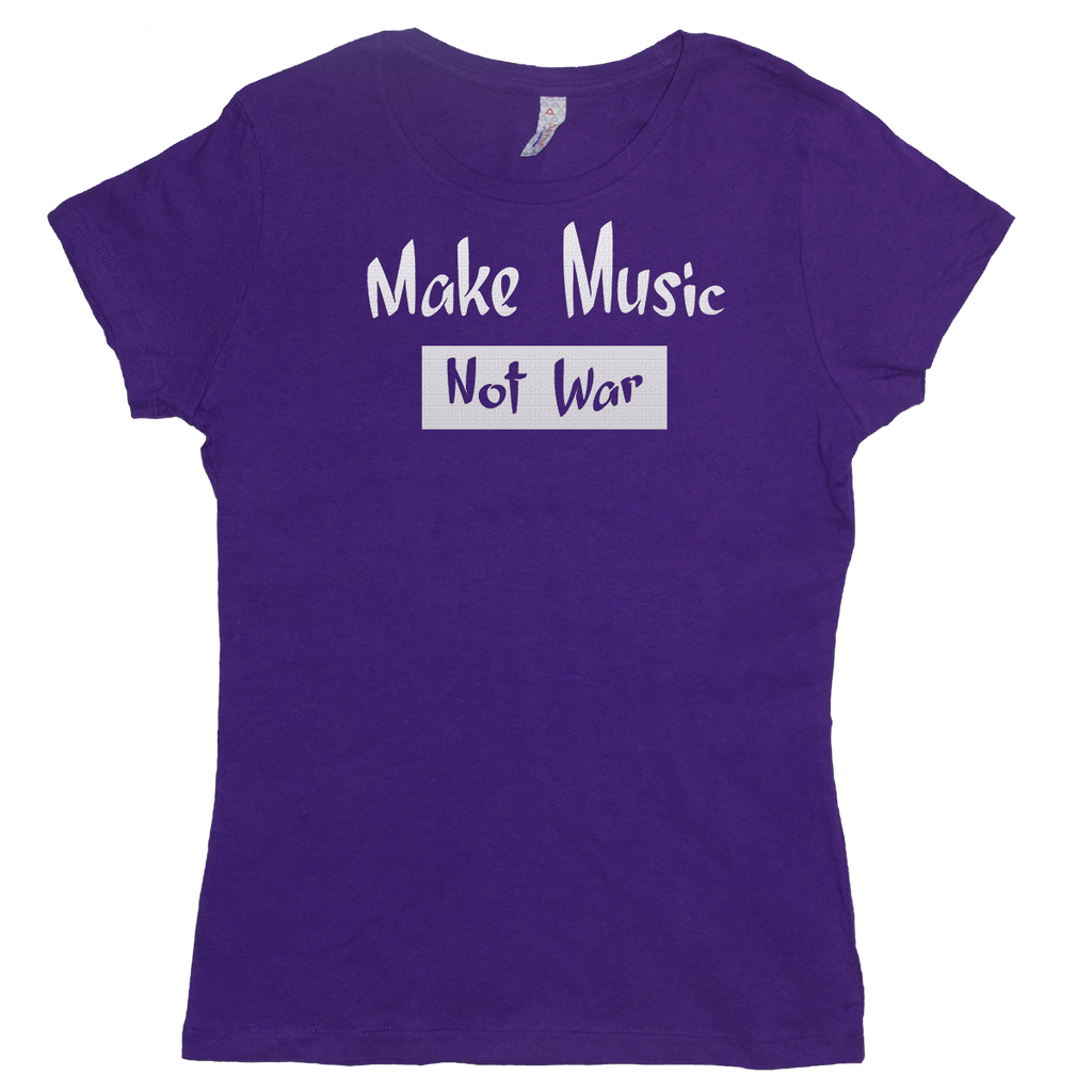 Make Music Not War, Womens - TntMusicBox - 1