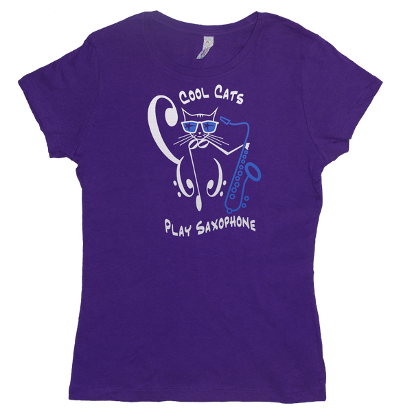 Cool Cats Play Saxophone, Womens - TntMusicBox - 6