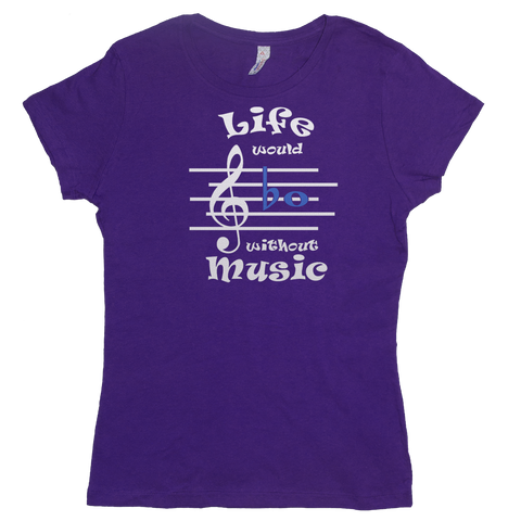 Life Would Bb Without Music, Womens - TntMusicBox - 5