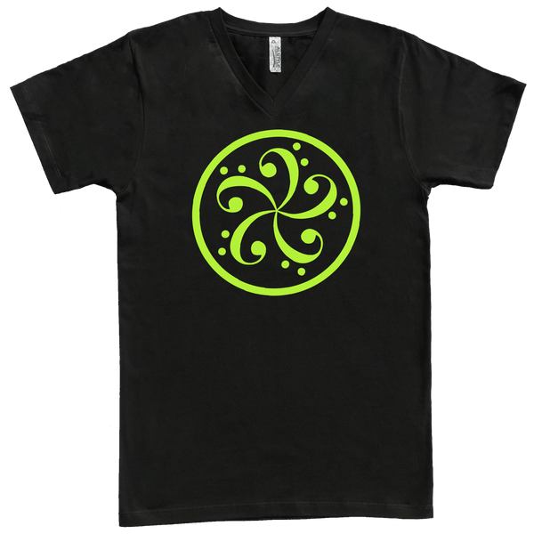 bass clef music t-shirt design american apparel black