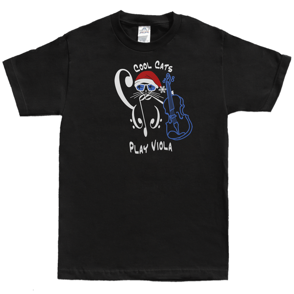 Cool Cat Christmas Santa Tees, Kids