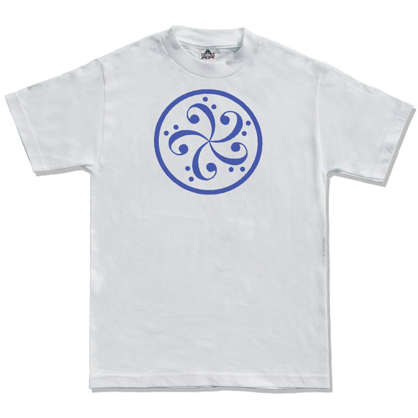 bass clef music t-shirt design mens white