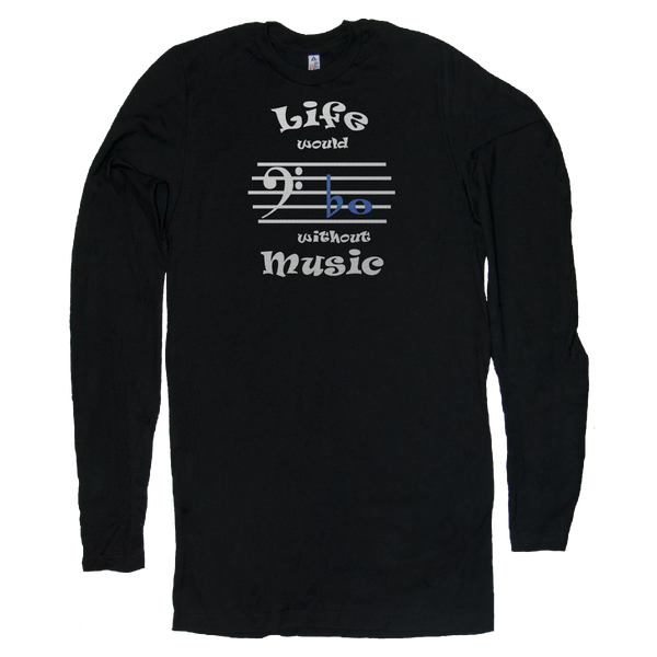 Life Would Bb Without Music, Bass Clef, Mens - TntMusicBox - 8