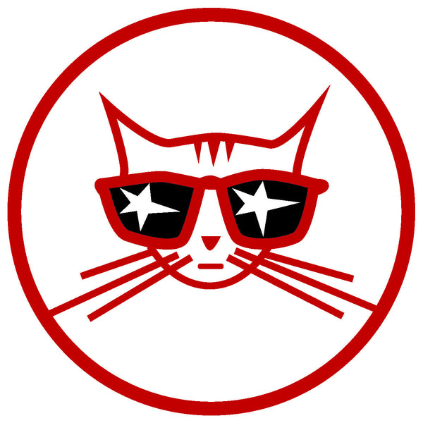 Cool Cat sticker - Decal red