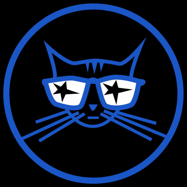 Cool Cat sticker - Decal blue