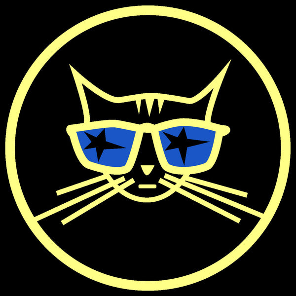 Cool Cat sticker - Decal yellow