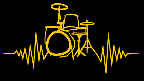 Heartbeat of a drummer Decal