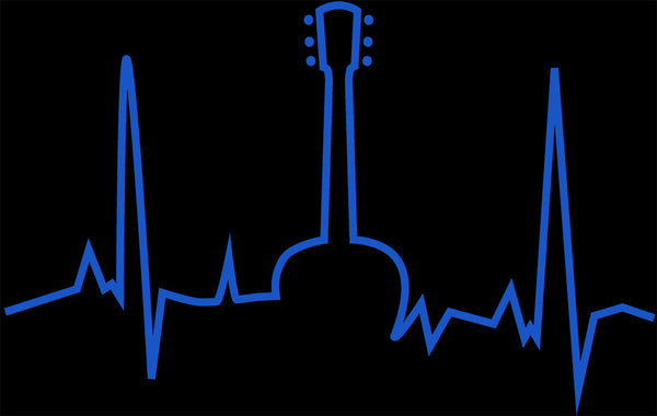 Heartbeat of a guitarist