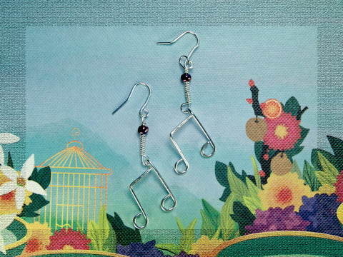 Eighth note earrings