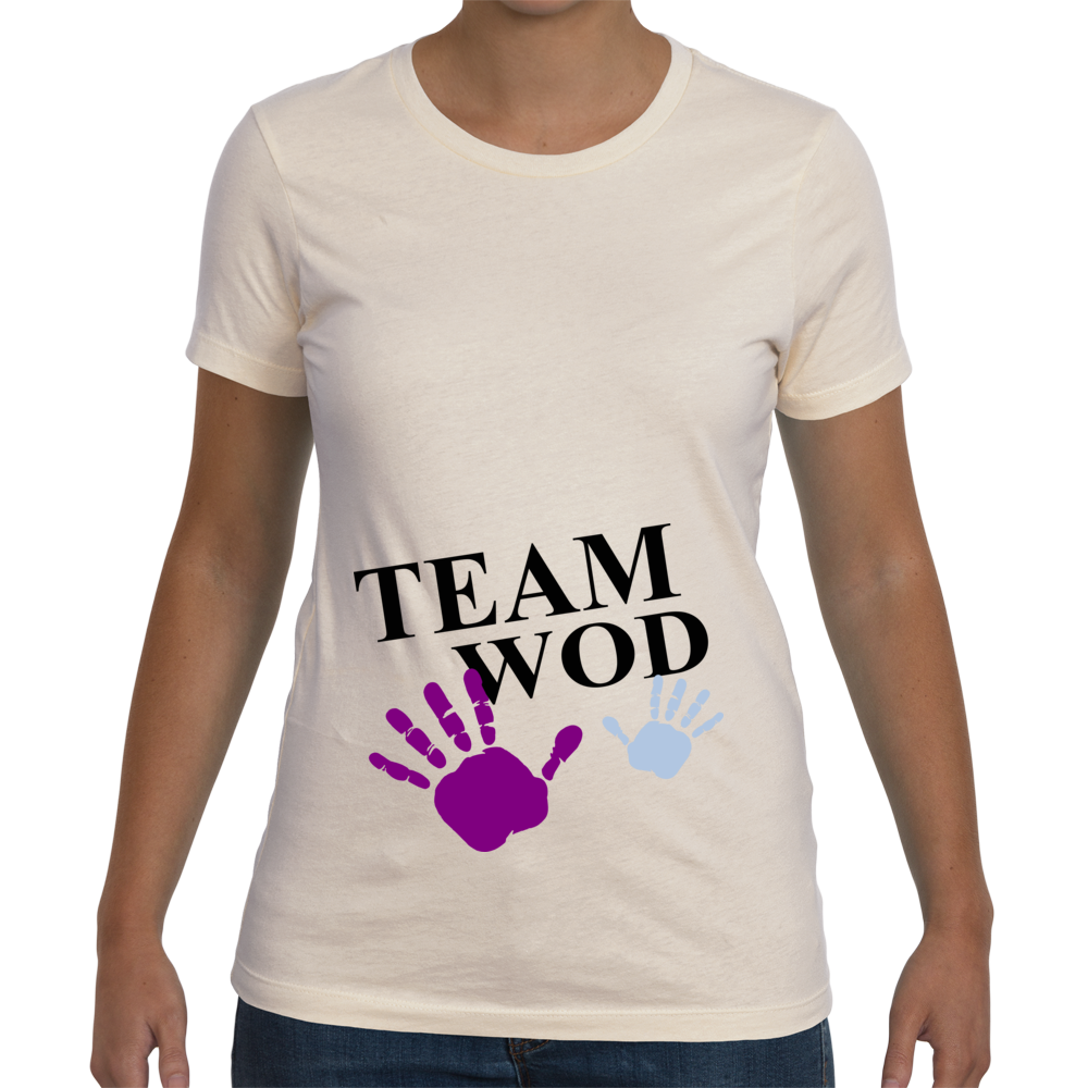 Womens Maternity Team WOD tee - Ivory