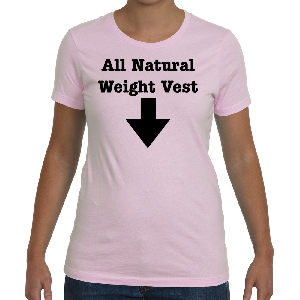 Womens Maternity Weight Vest - Light Pink