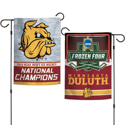 Minnesota Duluth Bulldogs 2018 National Champions 2 Sided Garden Flag