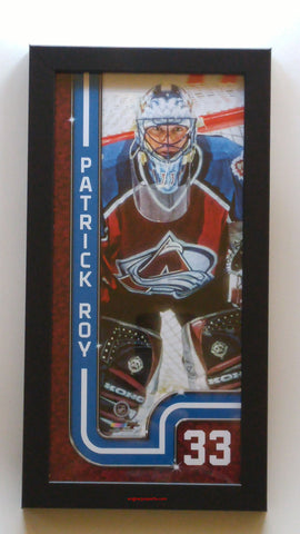"Colorado Avalanche Patrick Roy 13"" x 7"" Framed Print"