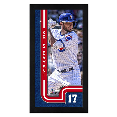 "Chicago Cubs Kris Bryant 13"" x 7"" Framed Print"