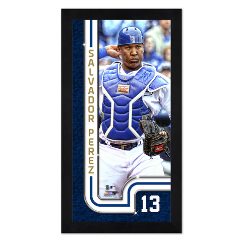 "Kansas City Royals Salvador Perez 13"" x 7"" Framed Print"