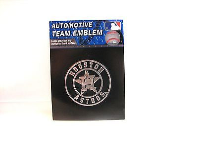 Houston Astros Die Cut Silver Auto Emblem