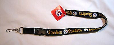 "Pittsburgh Steelers 24"" Breakaway Lanyard - Black"