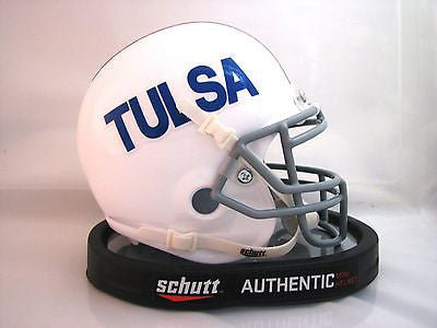 Tulsa Golden Hurricanes White Schutt Mini Helmet - Alternate 2
