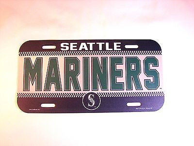 Seattle Mariners Plastic License Plate