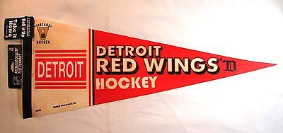 "Detroit Red Wings Vintage Logo 12""x30"" Premium Pennant"
