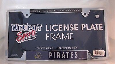 "East Carolina Pirates 6""x12"" Metal License Plate Frame"