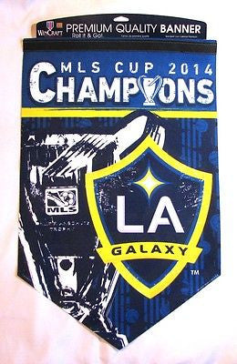 "Los Angeles Galaxy 2014 MLS Cup Champions 17""x26"" Premium Banner"