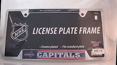 "Washington Capitals 6""x12"" Metal License Plate Frame"