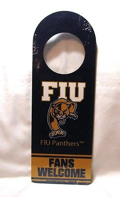 "Florida International Panthers 11 ½"" x 4"" Wood Door Hanger"