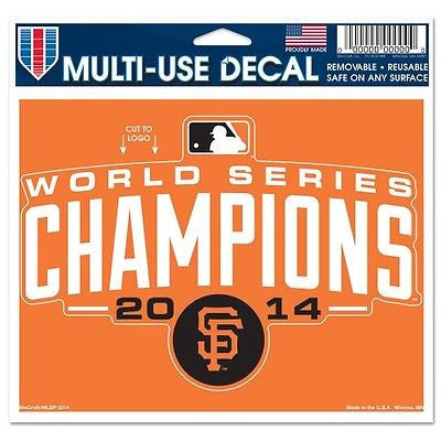 "San Francisco Giants 2014 World Series Champions 5""x6"" Decal"