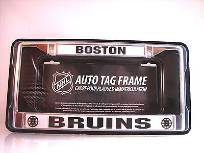 "Boston Bruins 6""x12"" Chrome License Plate Frame"