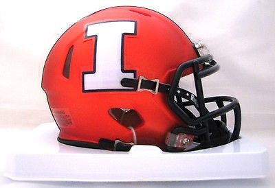 Illinois Fighting Illini Riddell Speed Mini Helmet - 2014 Orange Discontinued Style