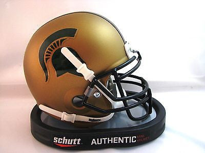 Michigan State Spartans Matte Gold Schutt Mini Helmet - Alternate 1