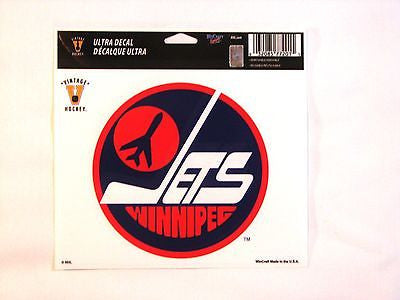 "Winnipeg Jets Retro Logo 5""x6"" Decal"