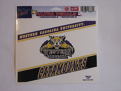 "Western Carolina Catamounts 5""x6"" Decal"