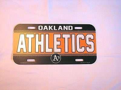 Oakland Athletics Plastic License Plate