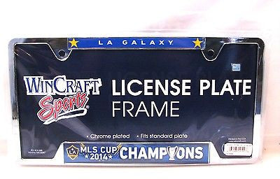 "Los Angeles Galaxy 2014 MLS Cup Champions 6""x12"" Metal License Plate Frame"