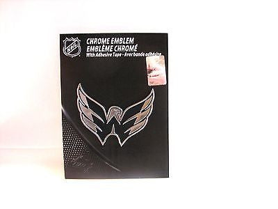 Washington Capitals Die Cut Silver Auto Emblem