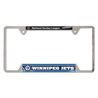 "Winnipeg Jets 6""x12"" Metal License Plate Frame"