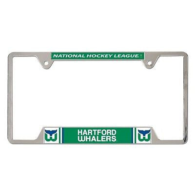 "Hartford Whalers 6""x12"" Metal License Plate Frame"