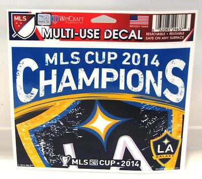 "Los Angeles Galaxy 2014 MLS Cup Champions 5""x6"" Decal"