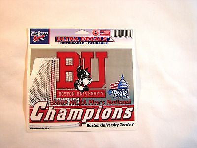 "Boston University Terriers 2009 Hockey National Champions 5""x6"" Decal"