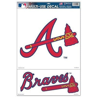 "Atlanta Braves 2 Piece 11""x17"" Ultra Decal Sheet"