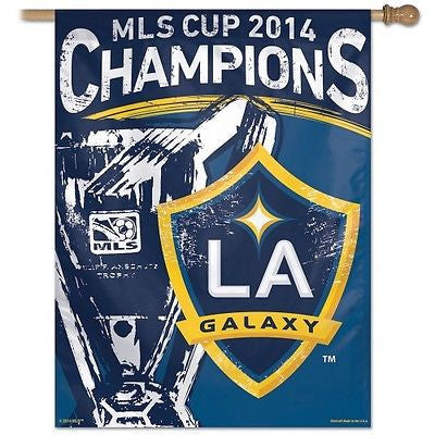 "Los Angeles Galaxy 2014 MLS Cup Champions 27""x37"" Banner"