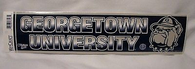 Georgetown Hoyas Bumper Sticker