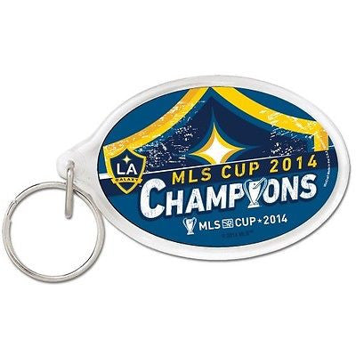 Los Angeles Galaxy 2014 MLS Cup Champions Premium  Oval Key Ring