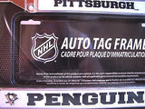 "Pittsburgh Penguins 6""x12"" Chrome License Plate Frame"